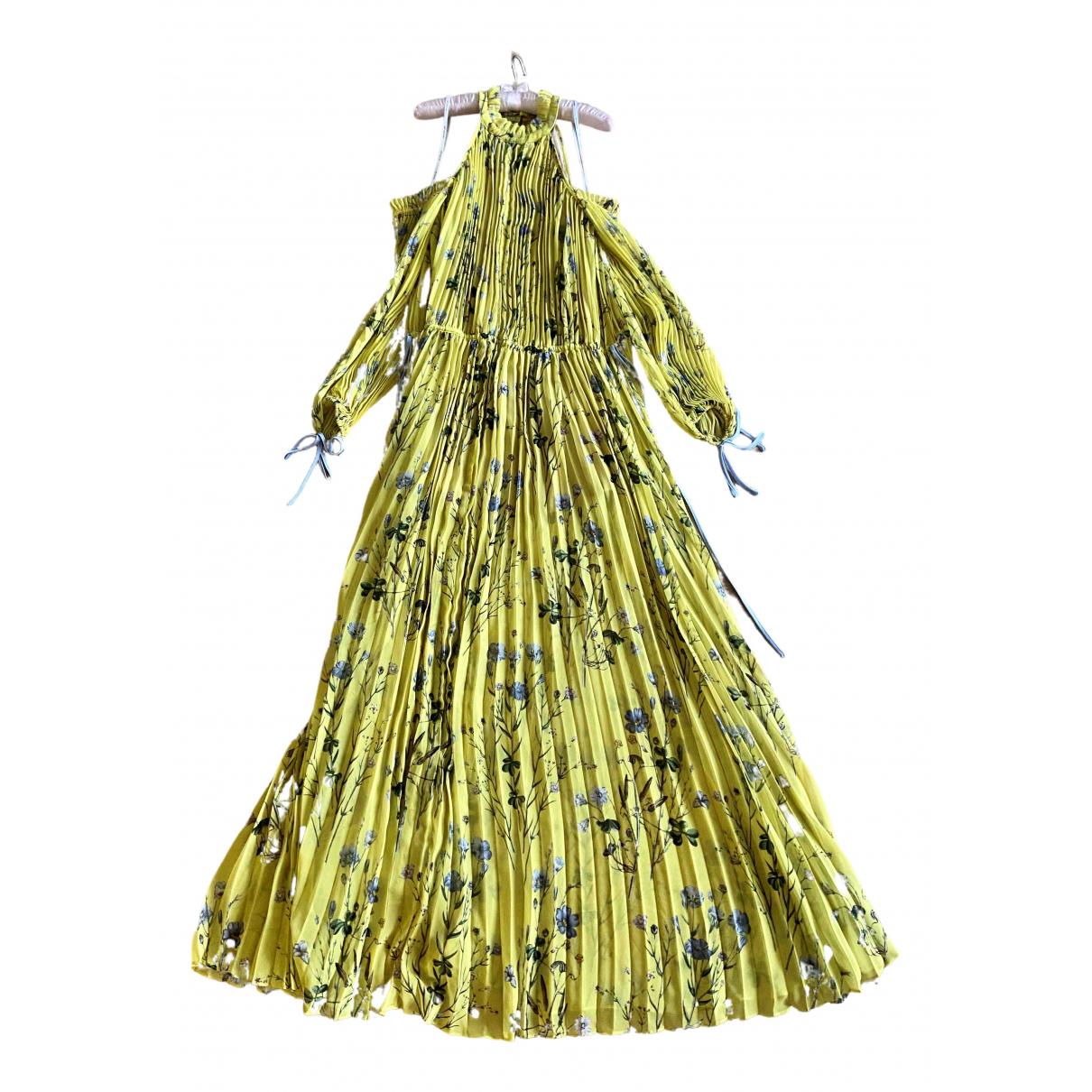Self Portrait \N Kleid in  Gelb Polyester