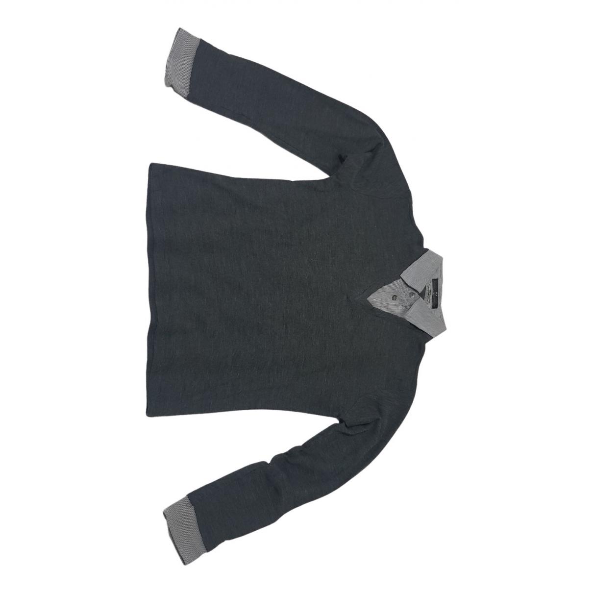 Daniele Alessandrini \N Pullover.Westen.Sweatshirts  in  Anthrazit Wolle