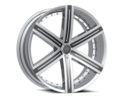 Blade BRVT-454 Sargon Wheel 22x9.5 6x139.7 25mm Chrome w/ Black Insert