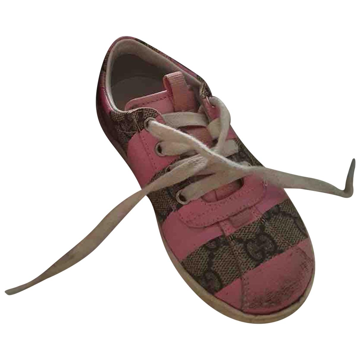 Gucci - Baskets   pour enfant en toile - rose