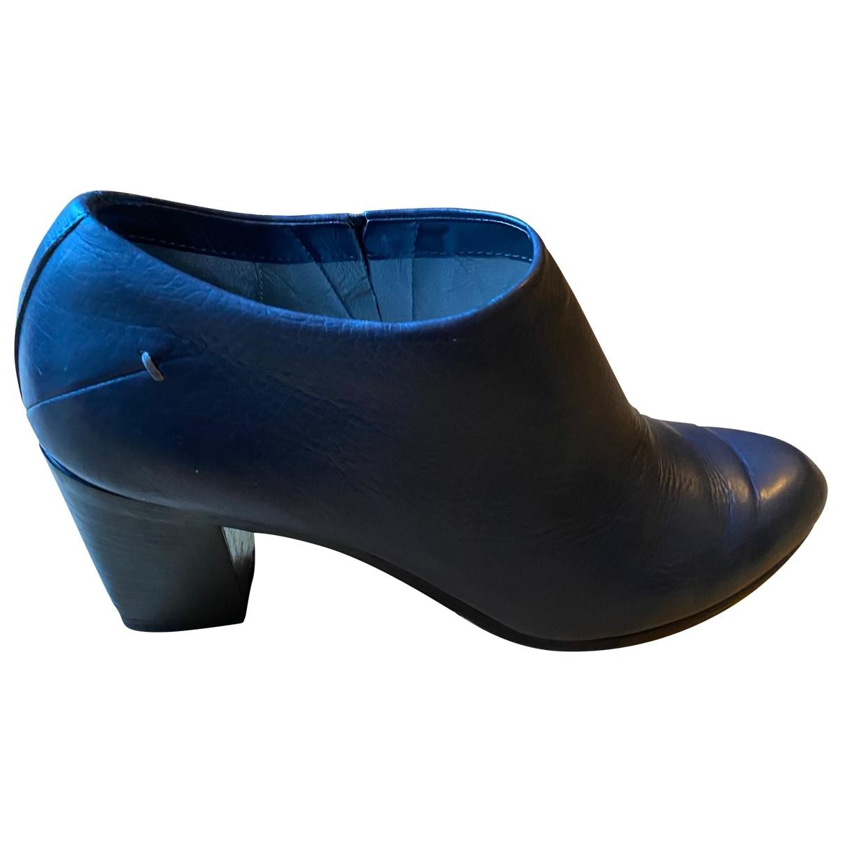 Costume National - Boots   pour femme en cuir - gris