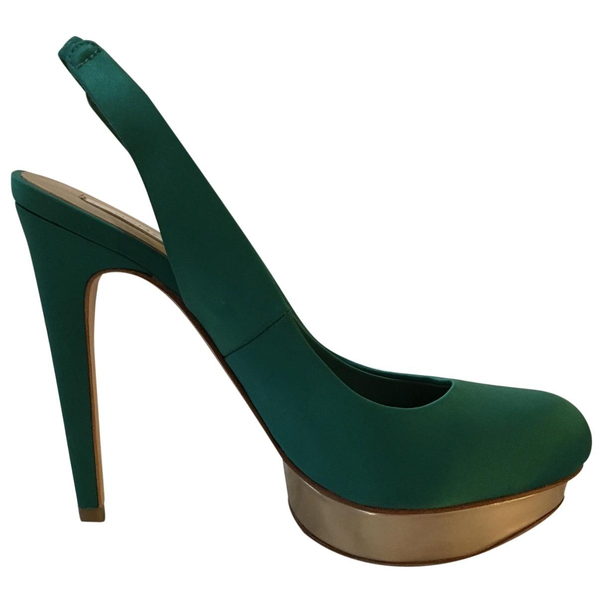 Bcbg Max Azria - Escarpins   pour femme en toile - vert