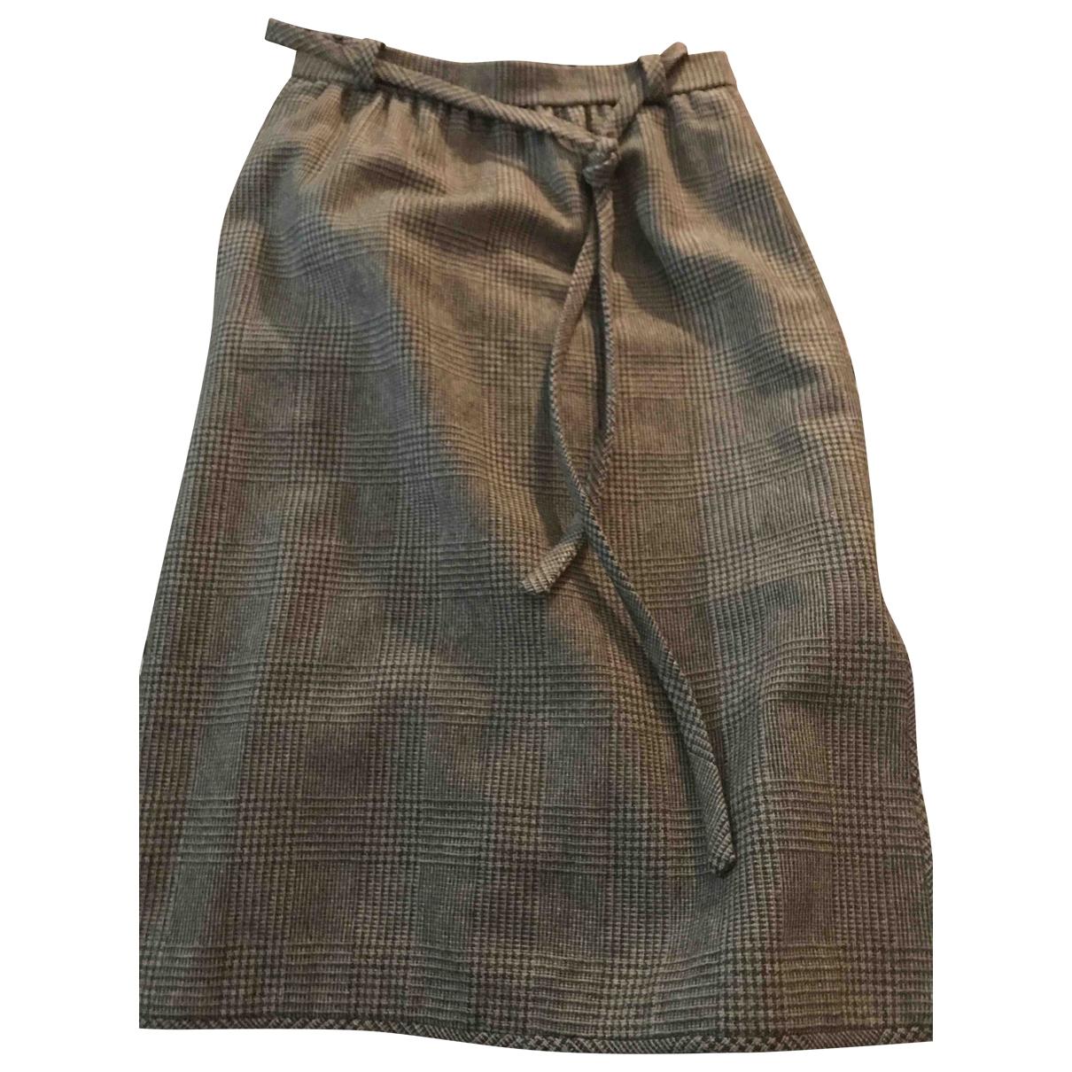 Pierre Balmain - Jupe   pour femme en tweed - marron