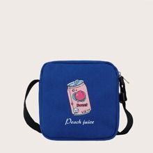 Peach Juice Canvas Crossbody Bag