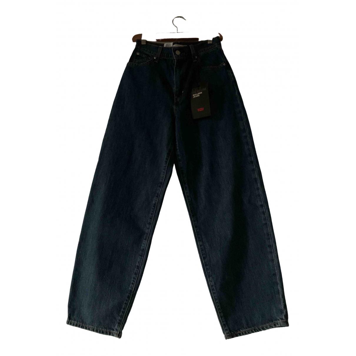 Levi's Balloon Blue Cotton Jeans for Women 26 US
