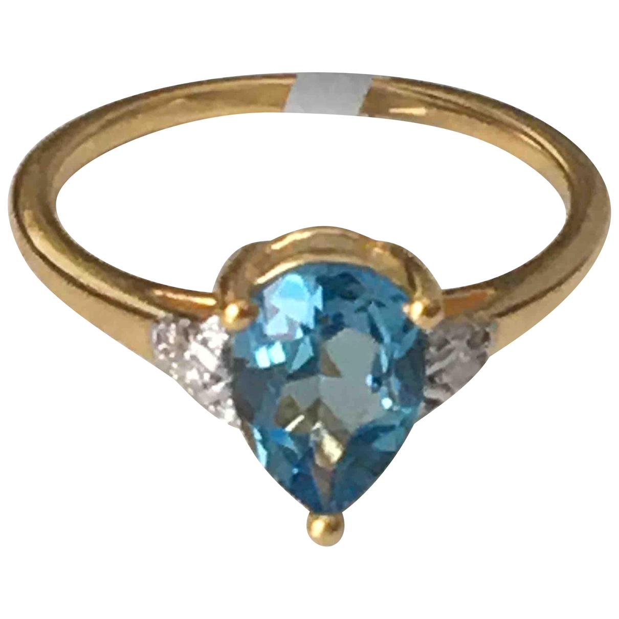 Non Signé / Unsigned \N Blue Silver Gilt ring for Women \N