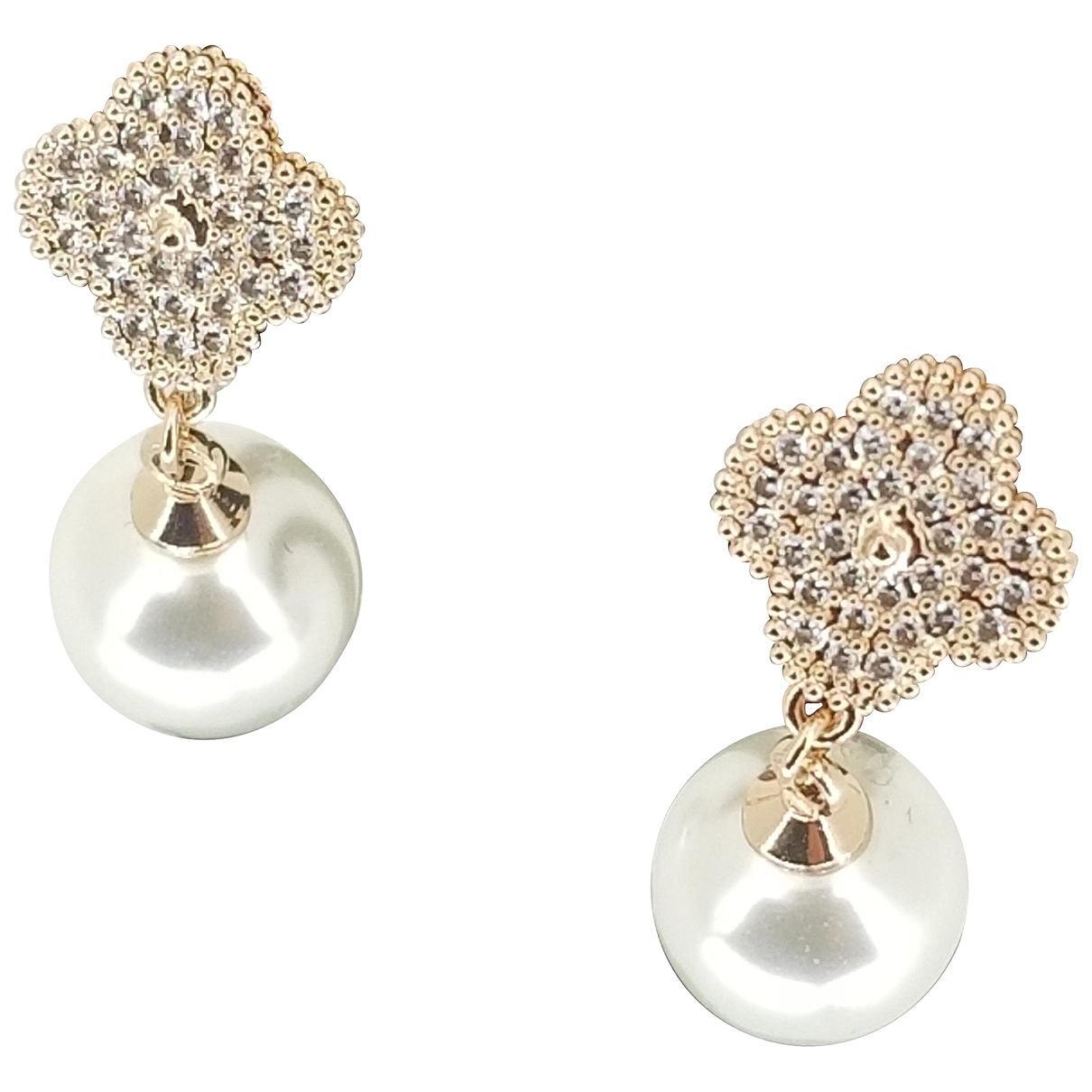 Non Signé / Unsigned \N Pearl Earrings for Women \N