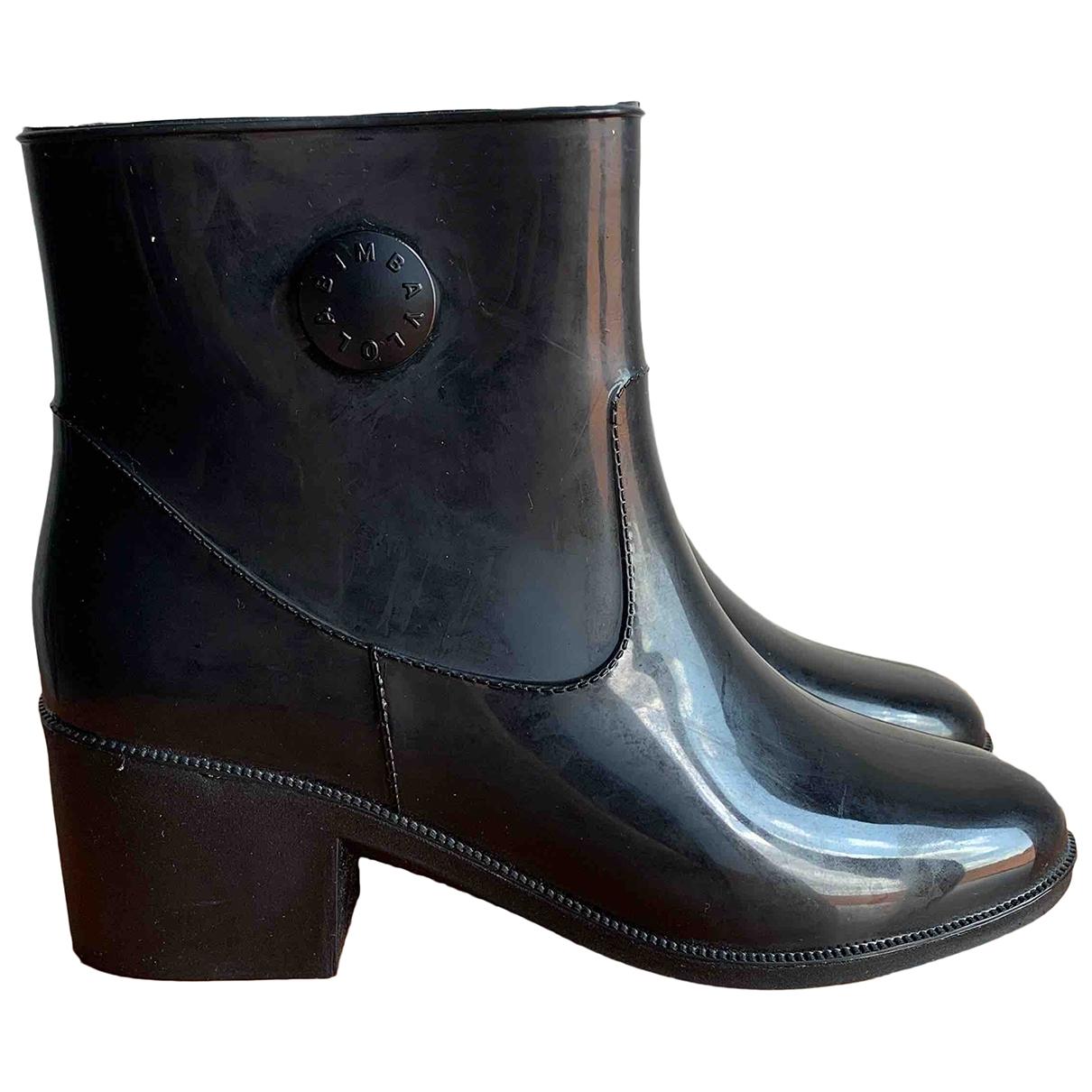 Bimba Y Lola \N Black Rubber Boots for Women 38 IT