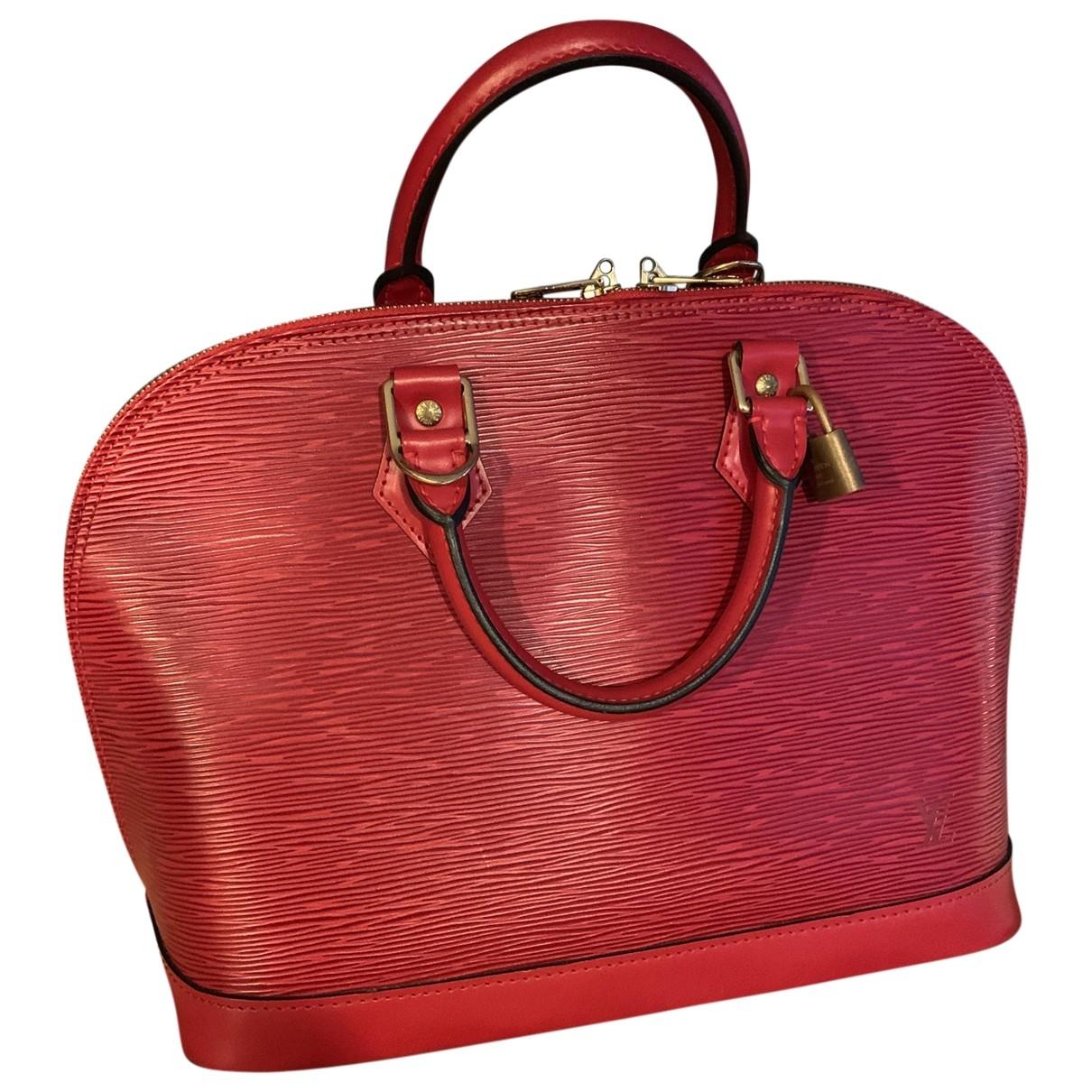 Louis Vuitton Alma Handtasche in  Rot Leder