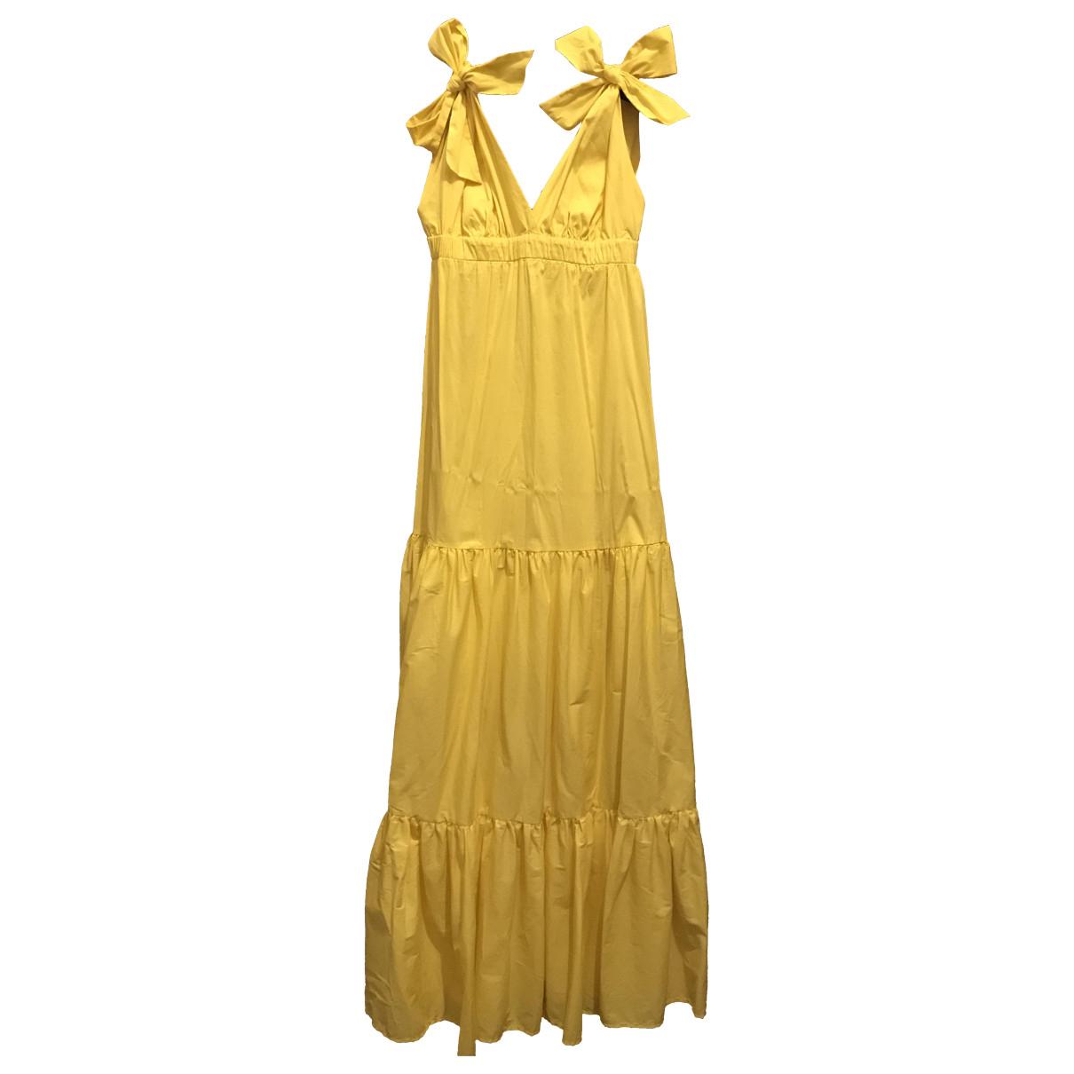Twin Set \N Kleid in  Gelb Baumwolle