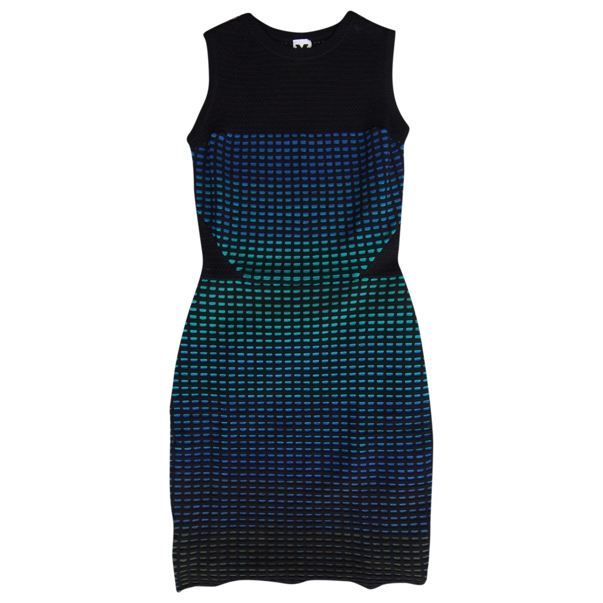 M Missoni - Robe   pour femme en coton - elasthane - noir