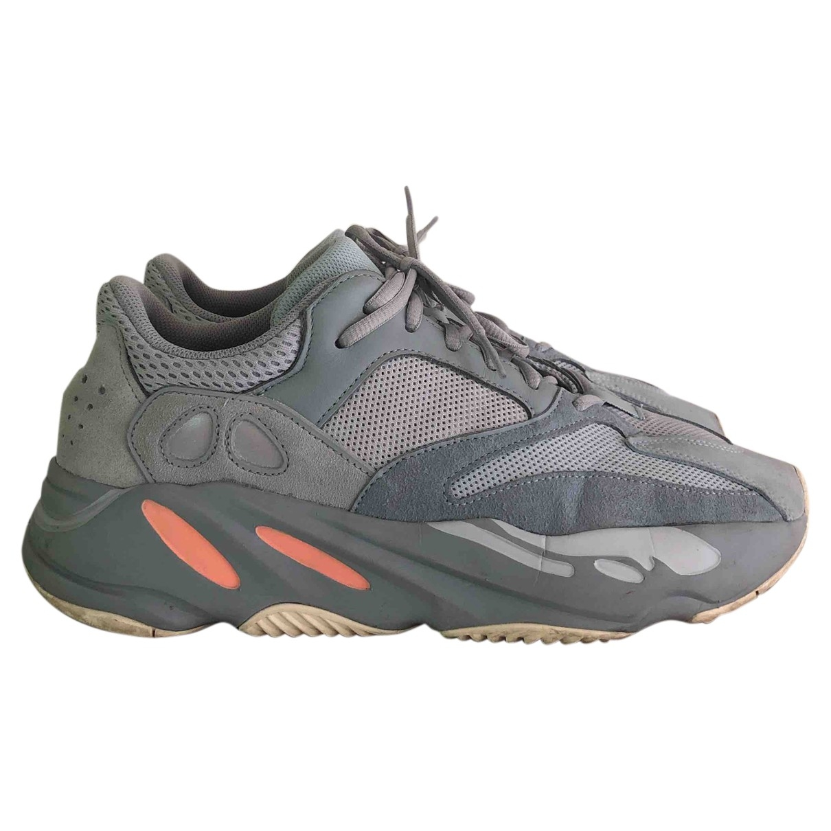 Yeezy X Adidas - Baskets Boost 700 V1  pour homme en suede - gris