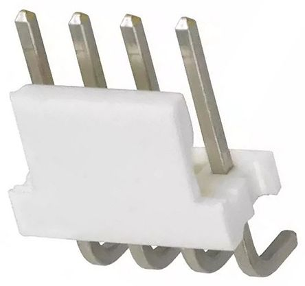 TE Connectivity , MTA-156, 4 Way, 1 Row, Right Angle PCB Header (5)