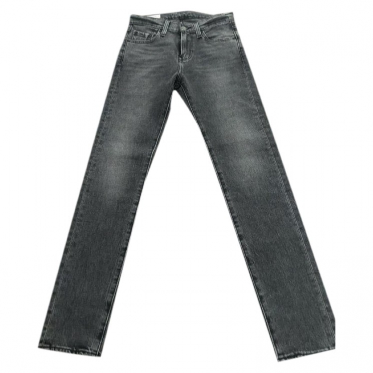 Levi's 501 Grey Cotton - elasthane Jeans for Women 26 US