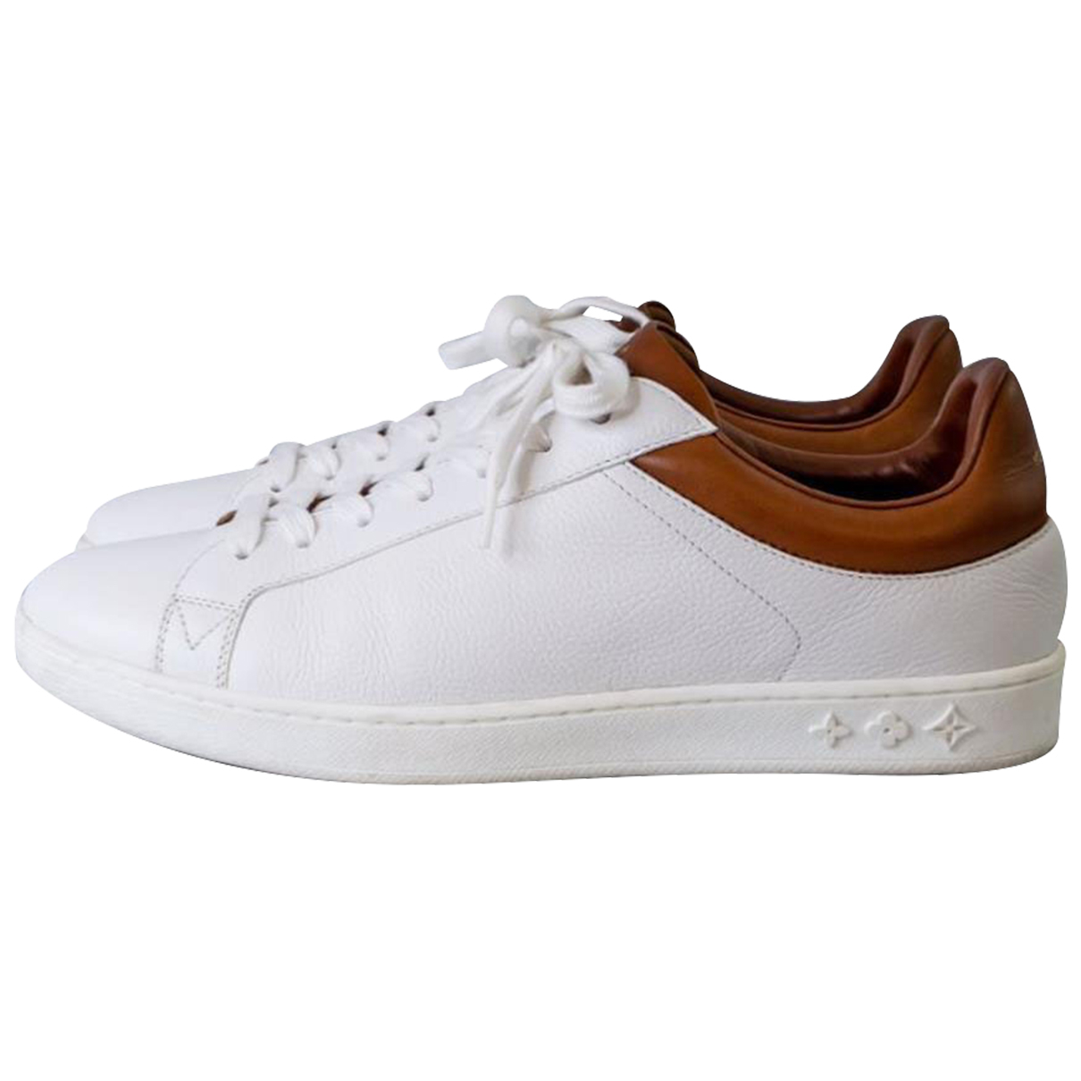 Louis Vuitton N White Leather Trainers for Women 6 US