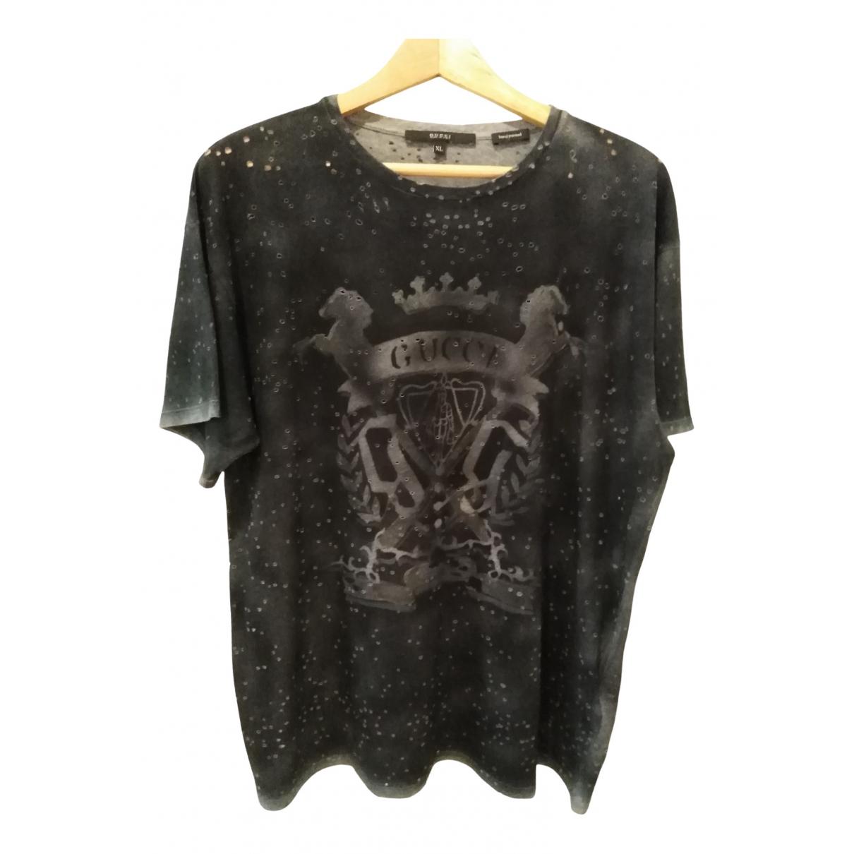 Gucci N Black Cotton T-shirts for Men XL International