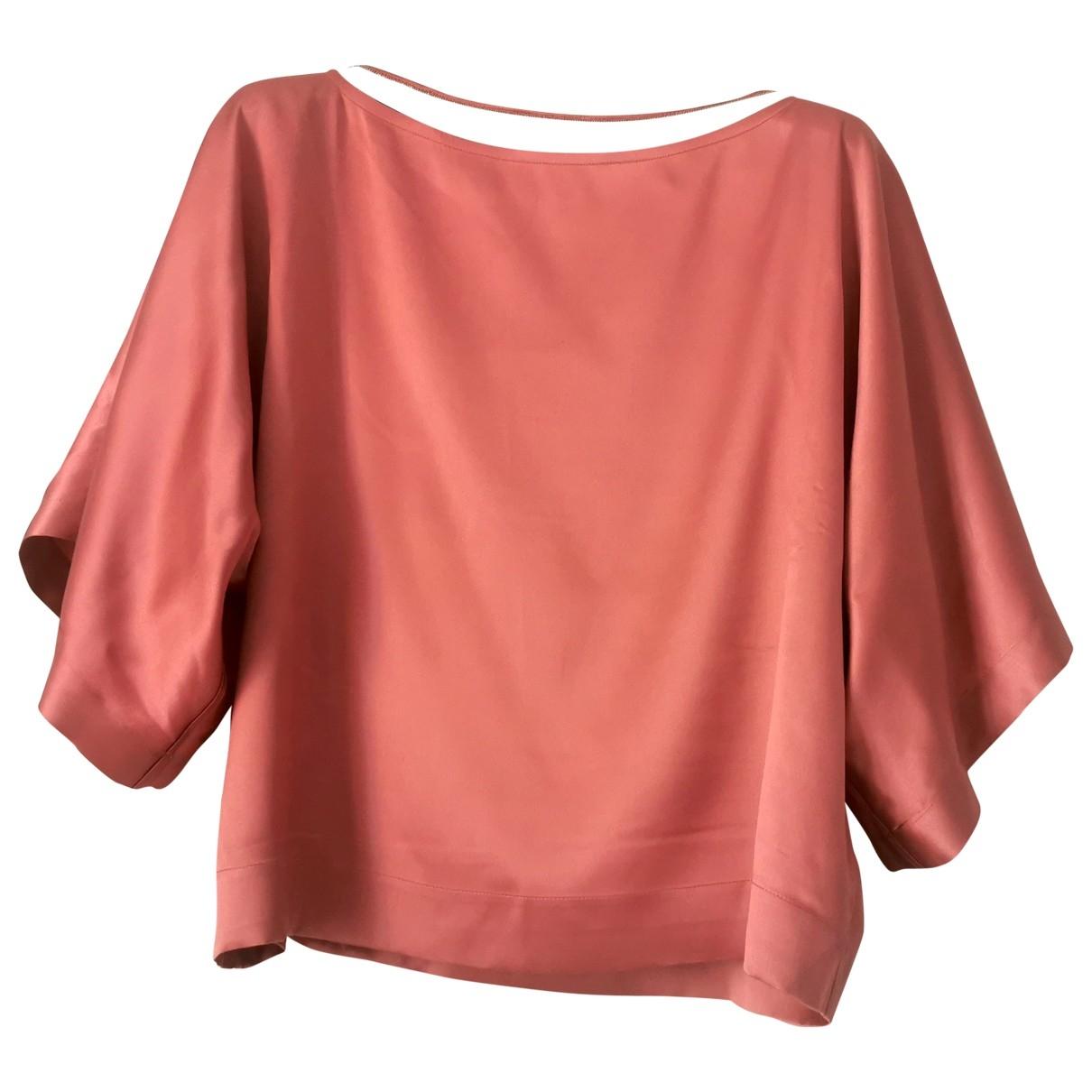 Brunello Cucinelli \N Pink Silk  top for Women 42 IT