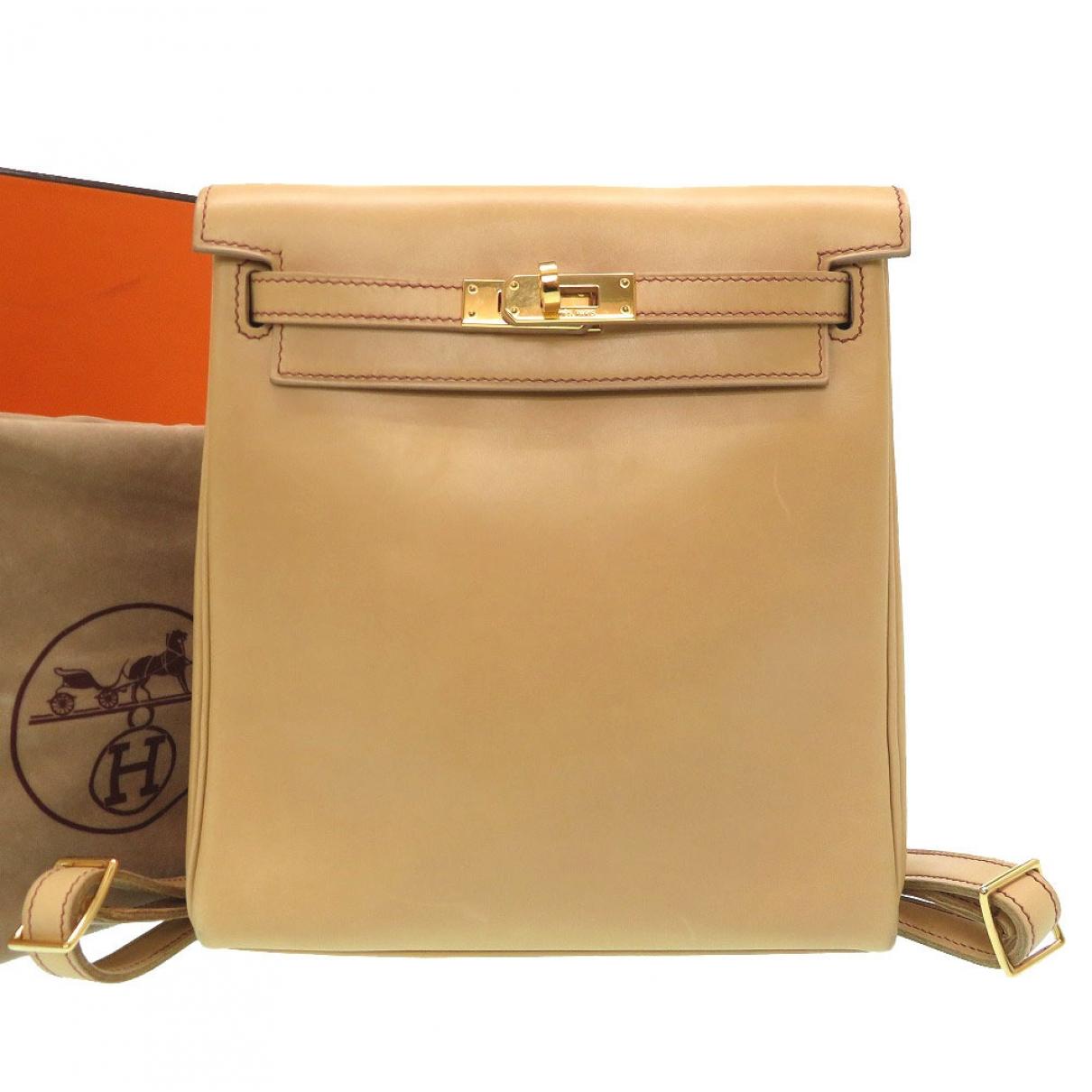 Hermès Kellyado Brown Leather backpack for Women \N