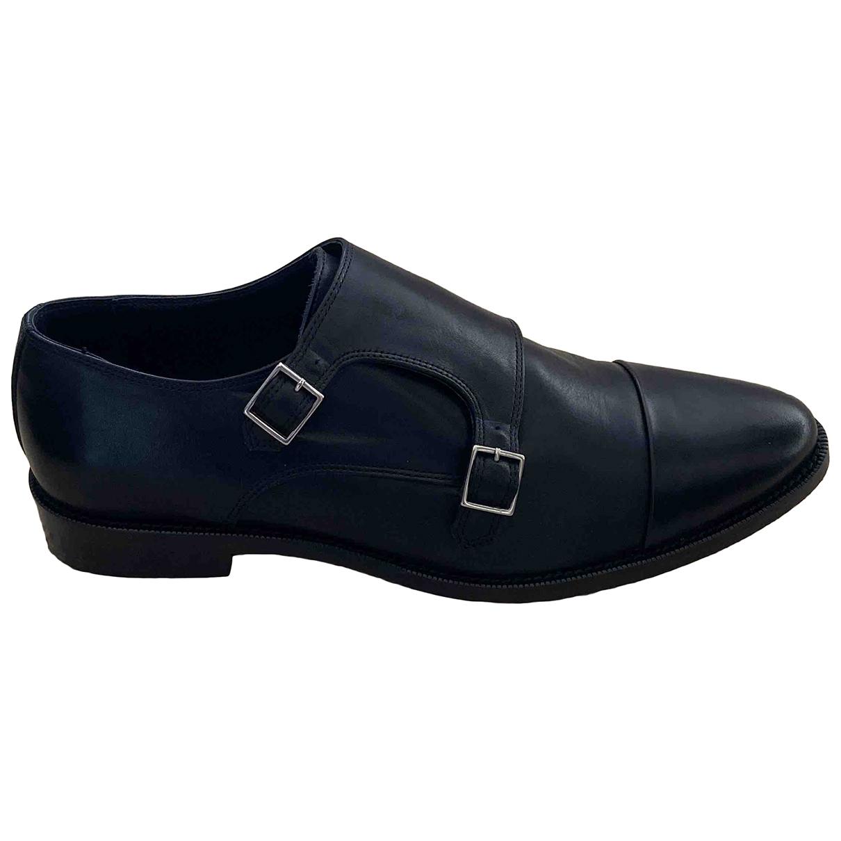 The Kooples - Derbies   pour homme en cuir - noir