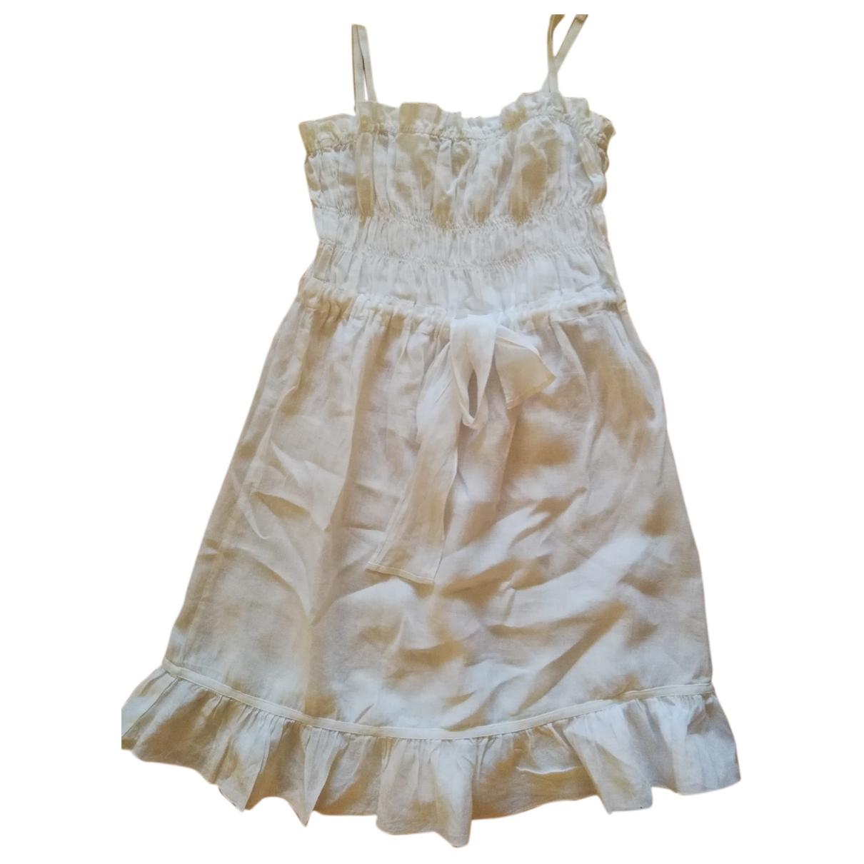 Armani Jeans \N White Linen dress for Women 6 US