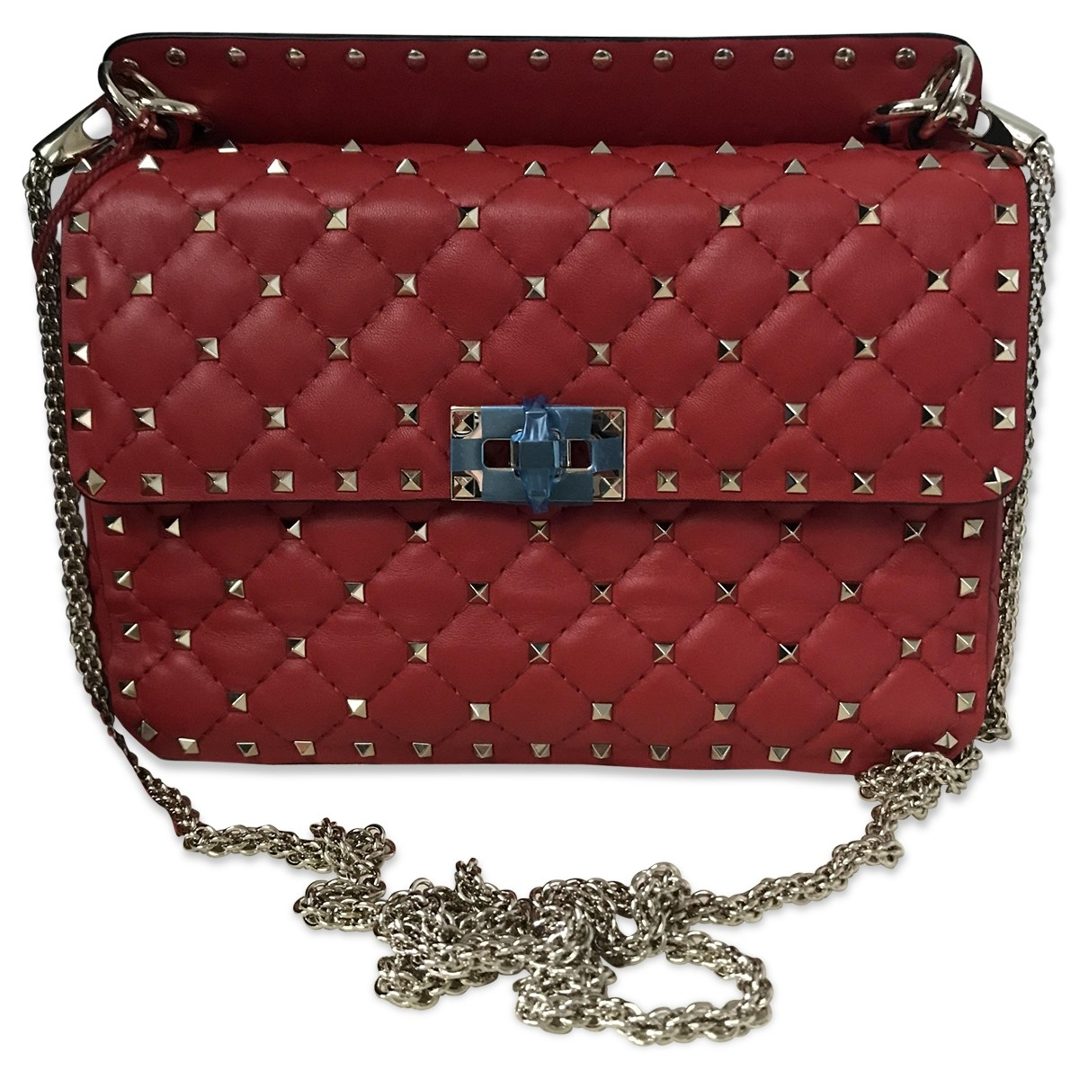 Valentino Garavani Rockstud spike Red Leather handbag for Women \N