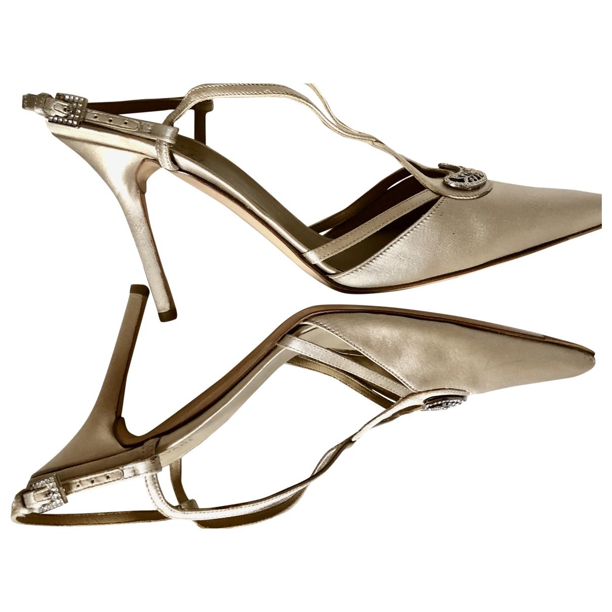 Valentino Garavani - Escarpins   pour femme en toile - beige