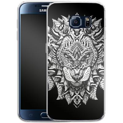 Samsung Galaxy S6 Silikon Handyhuelle - Ornate Lion von BIOWORKZ