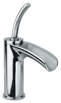 10211JO-72 Single Joystick Handle Lavatory Faucet With Waterfall Spout Polished Brass