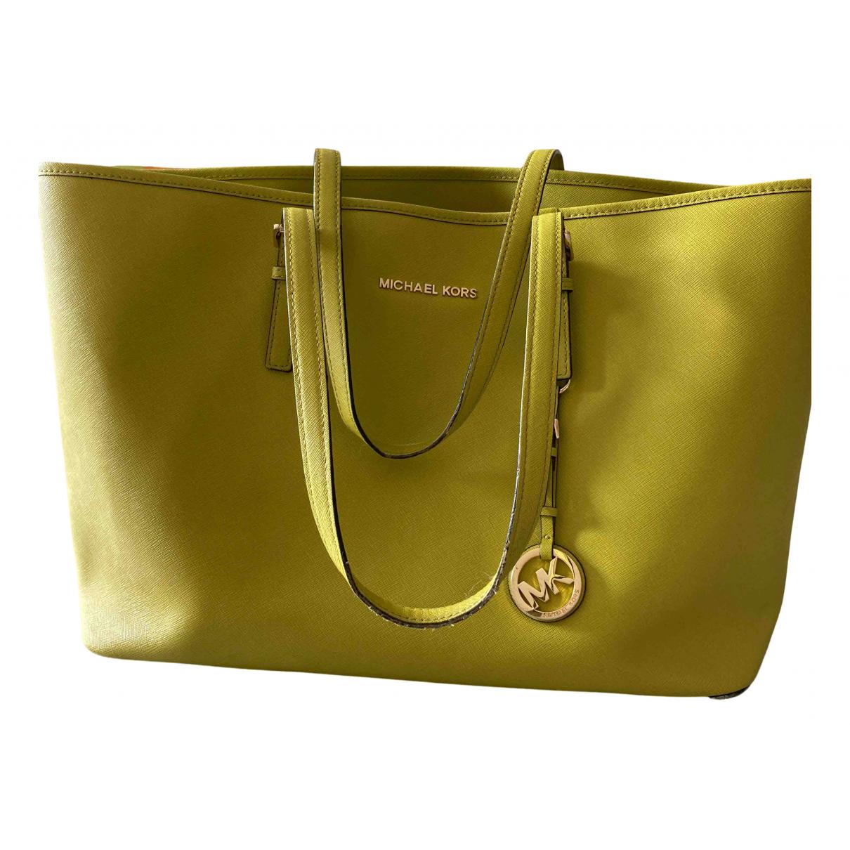 Michael Kors Jet Set Green Patent leather handbag for Women N