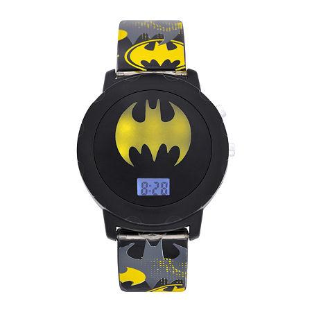 Batman Boys Digital Gray Strap Watch-Bat4609jc, One Size , No Color Family