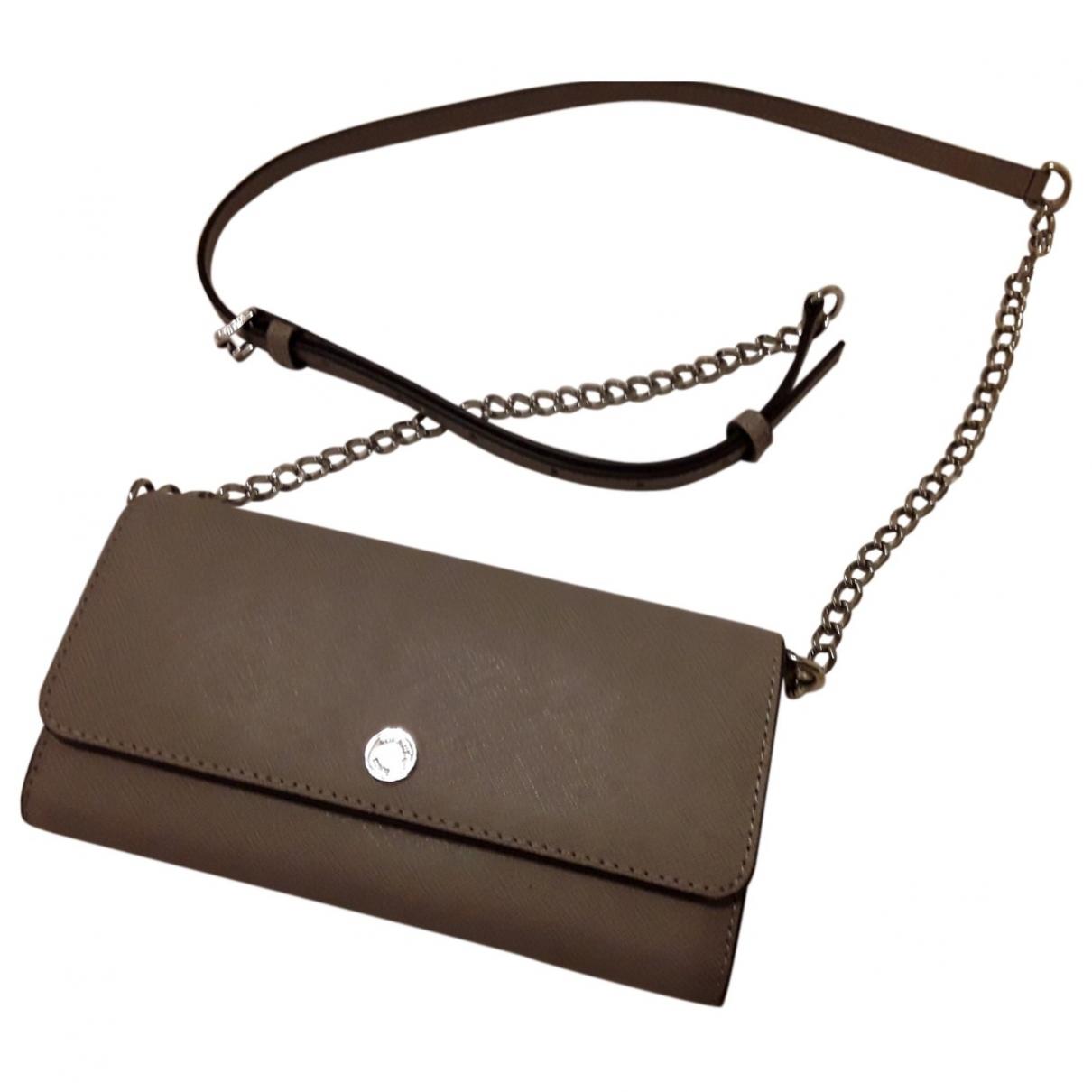 Michael Kors - Portefeuille   pour femme en cuir - gris