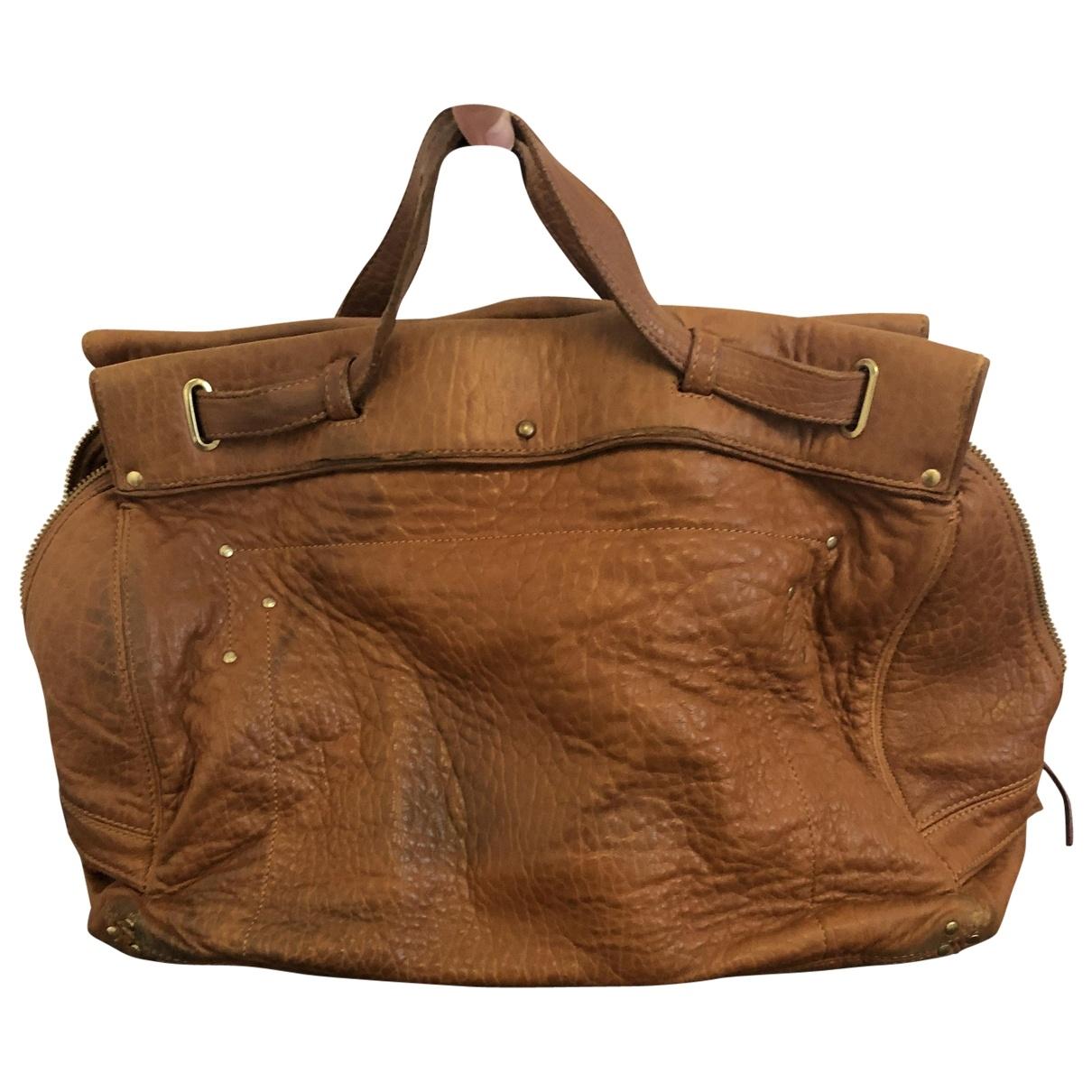 Jerome Dreyfuss Carlos Camel Leather handbag for Women \N
