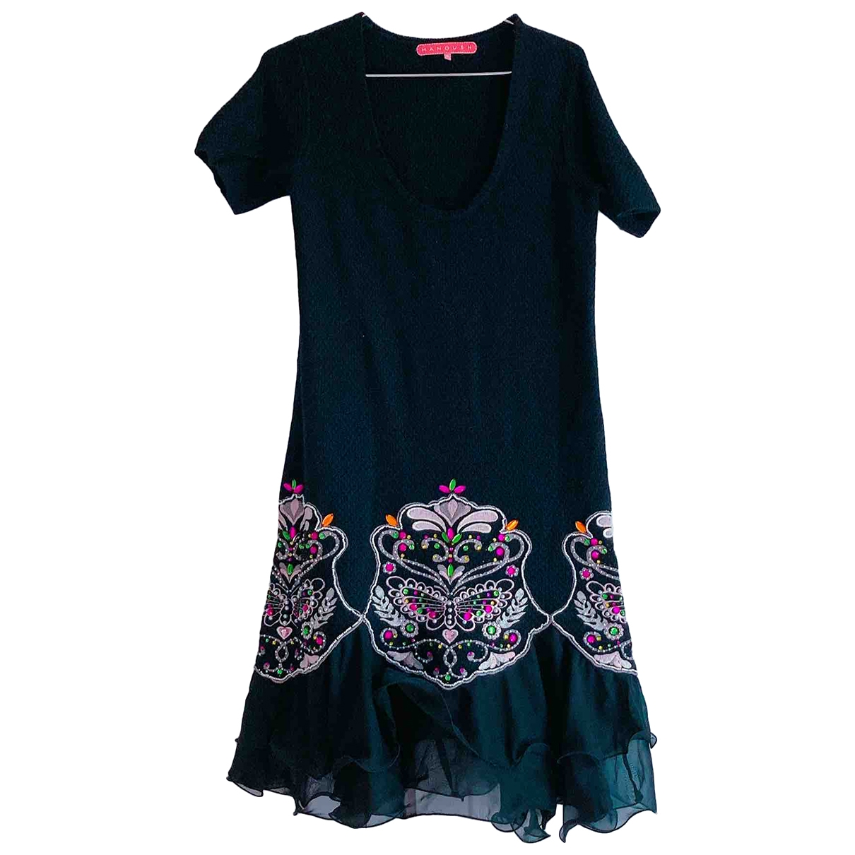 Manoush \N Kleid in  Schwarz Baumwolle