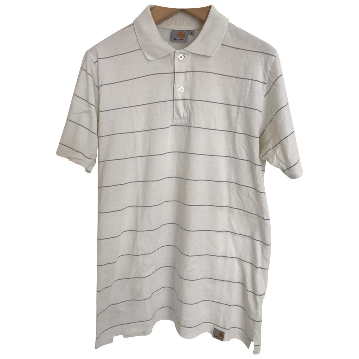 Carhartt - Polos   pour homme en coton - blanc