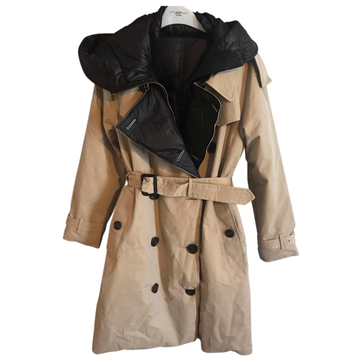 Burberry - Manteau   pour femme en coton - beige