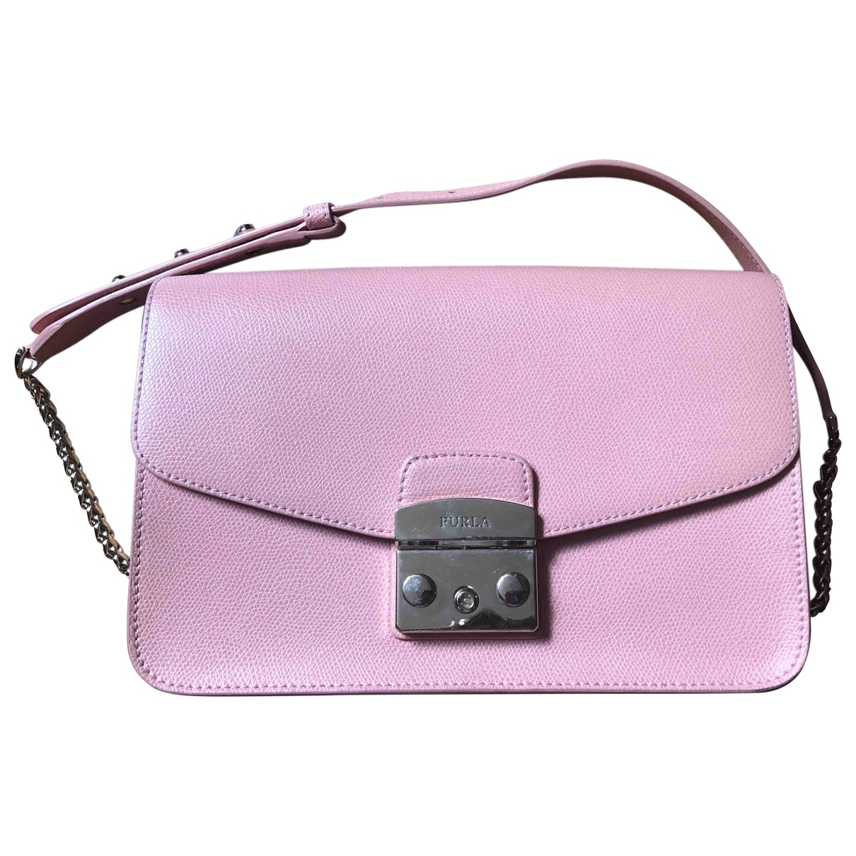 Furla Metropolis Pink Leather handbag for Women \N