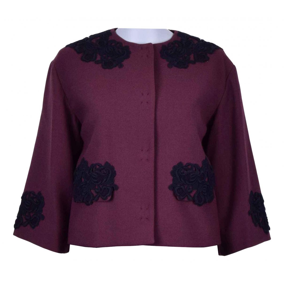 Dolce & Gabbana - Veste   pour femme en laine - bordeaux