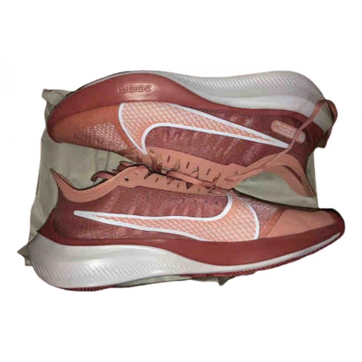 Nike - Baskets Zoom pour femme en toile - orange