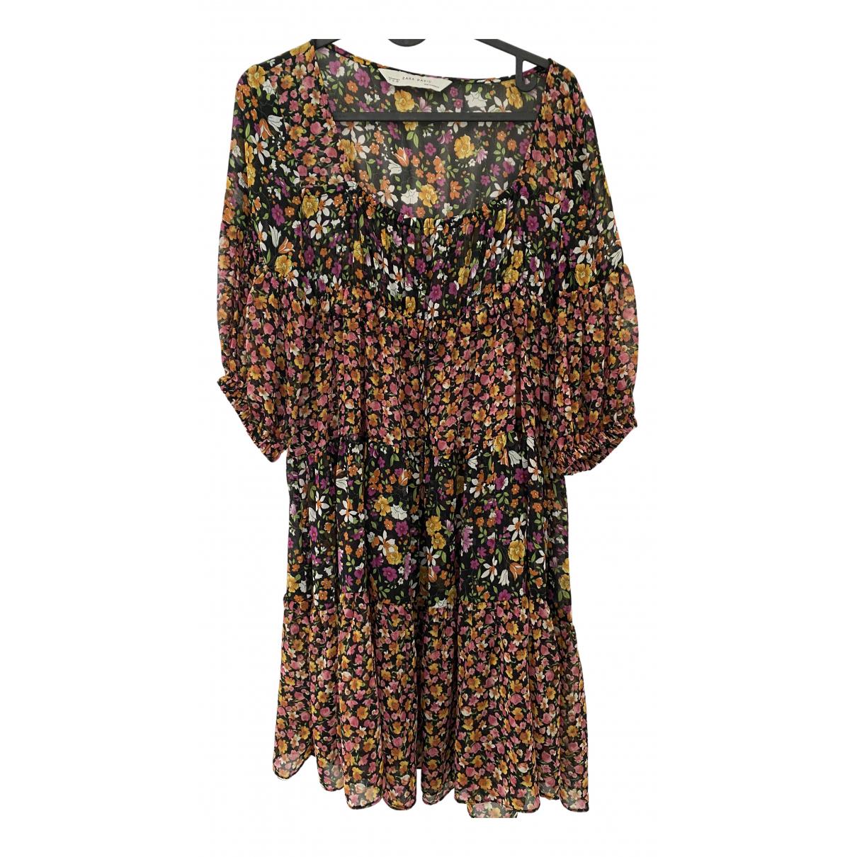 Zara \N Kleid in  Bunt Synthetik