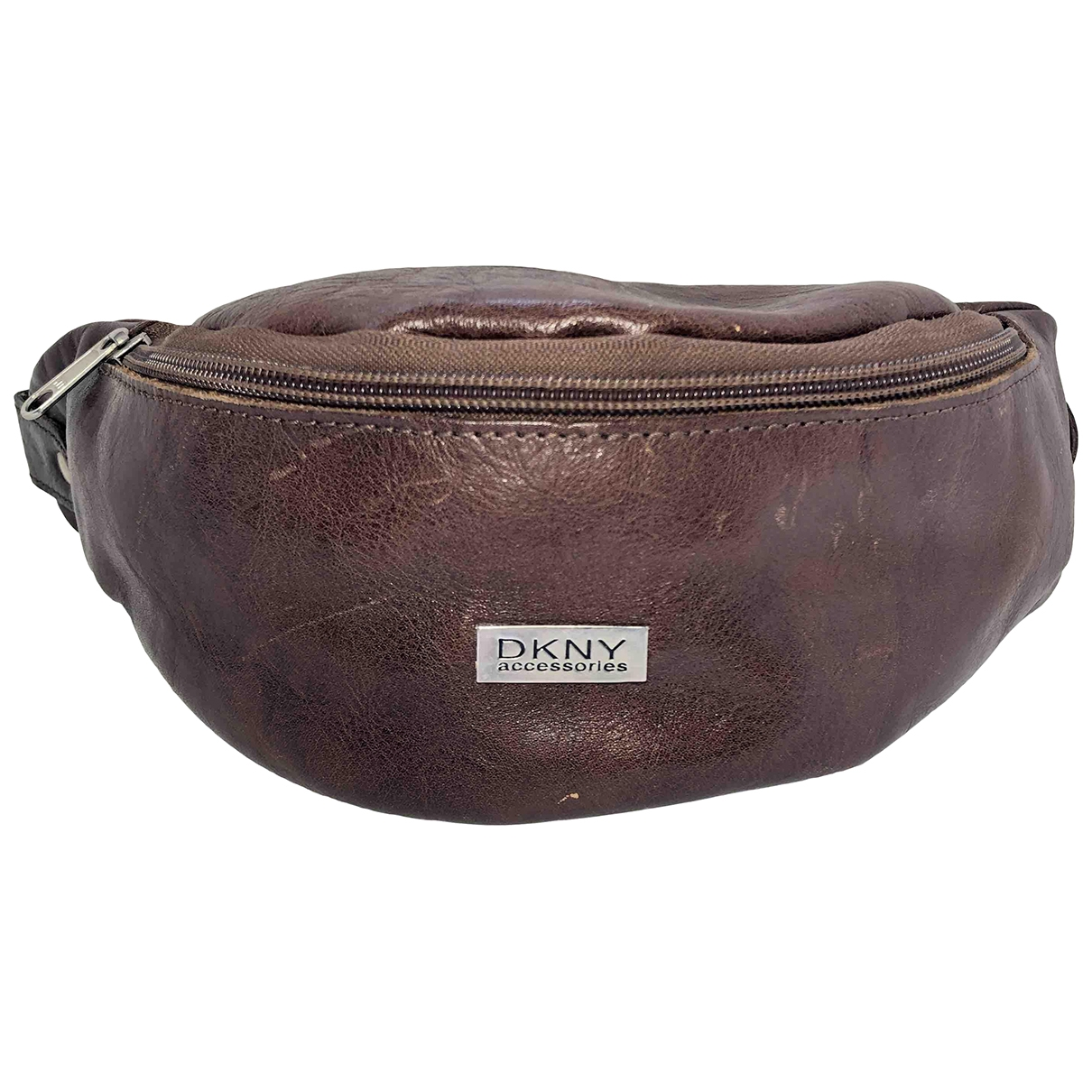 Dkny \N Handtasche in  Braun Leder