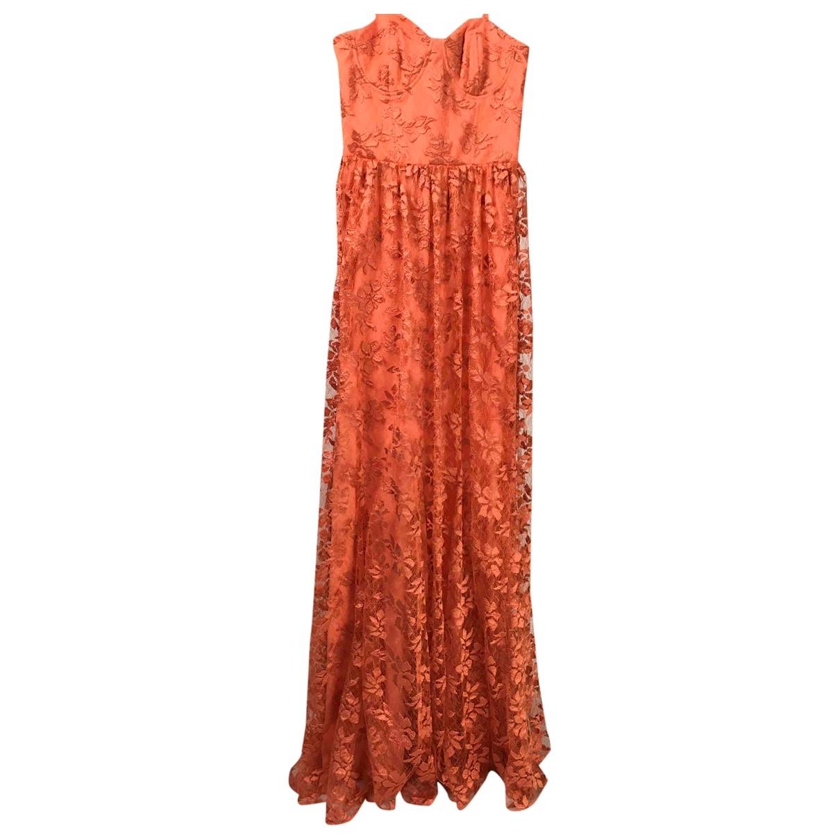 Alice & Olivia \N Kleid in  Orange Polyester