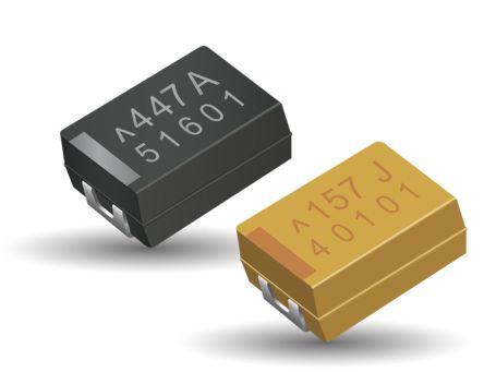 AVX Tantalum Capacitor 220μF 6.3V dc Polymer Solid ±20% Tolerance , TCJ (1000)