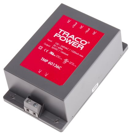 TRACOPOWER , 60W Embedded Switch Mode Power Supply SMPS, 36V dc, Encapsulated