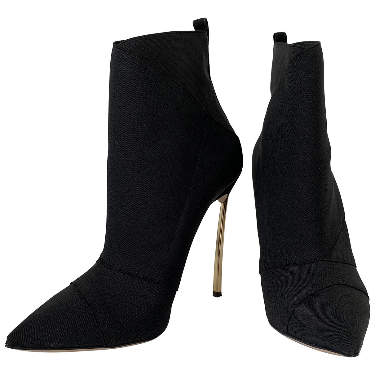 Casadei - Boots   pour femme - noir