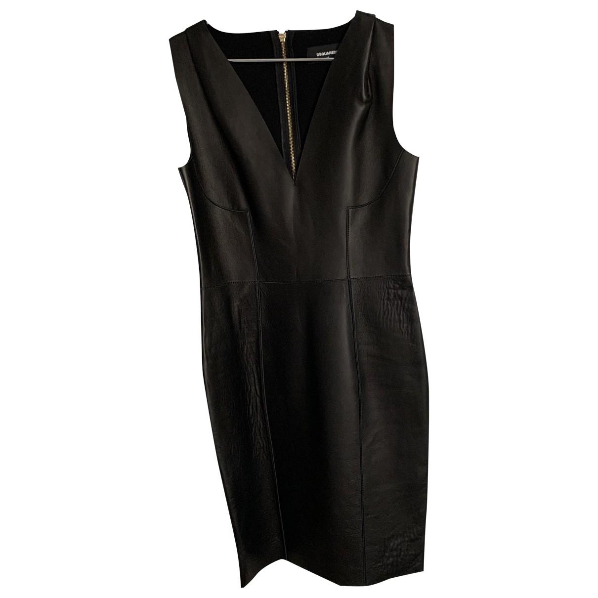 Dsquared2 - Robe   pour femme en cuir - noir