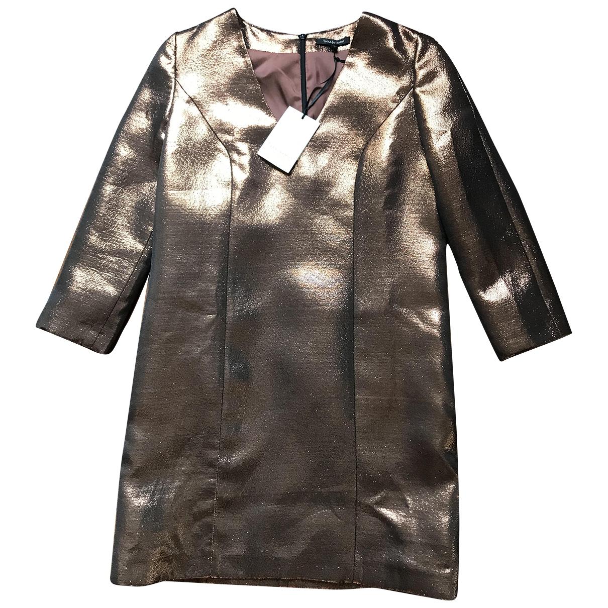 Tara Jarmon \N Kleid in  Gold Synthetik