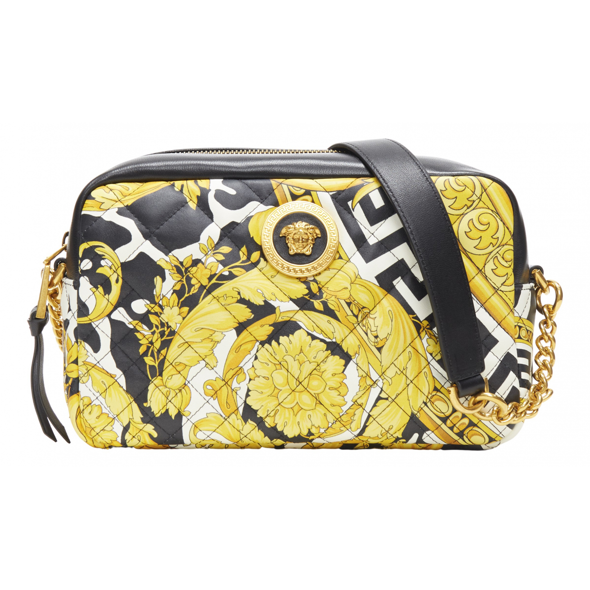 Versace \N Gold Cloth handbag for Women \N