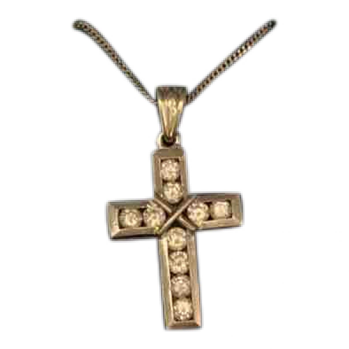 - Collier Croix pour femme en or blanc - argente