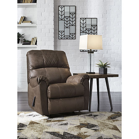 Signature Design by Ashley Benchcraft Narzole Rocker Recliner, One Size , Brown