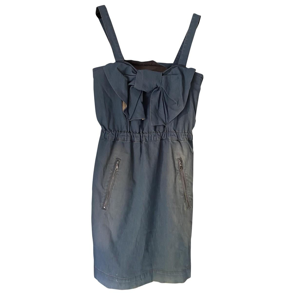 Mulberry \N Kleid in  Blau Baumwolle